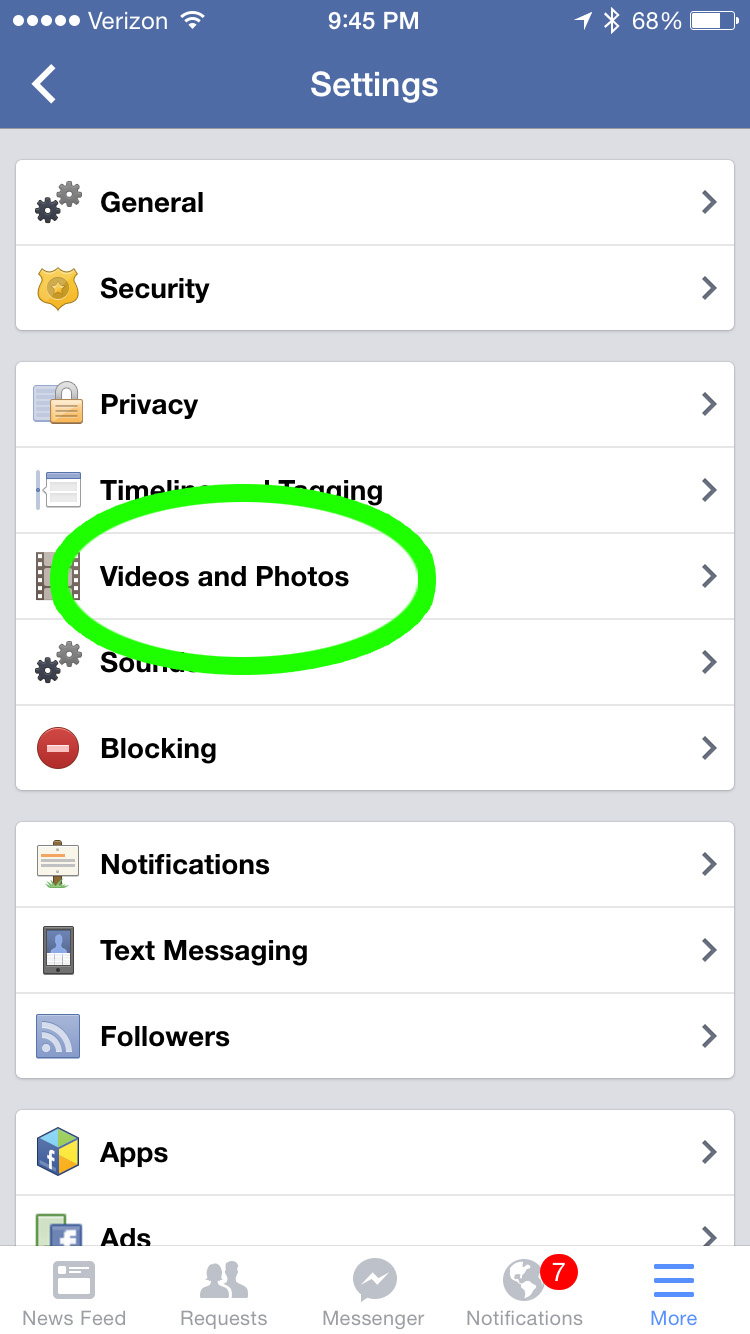How to turn off automatic video play on facebook iphone 6 19
